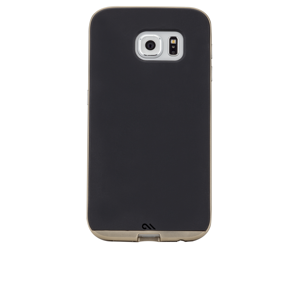 Samsung Galaxy S6 Black & Gold Slim Tough Case - image angle 7