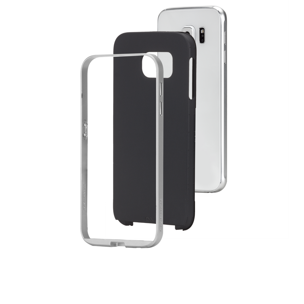 Samsung Galaxy S6 Black & Silver Slim Tough Case - image angle 8