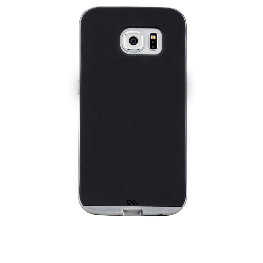 Samsung Galaxy S6 Black & Silver Slim Tough Case - image angle 5