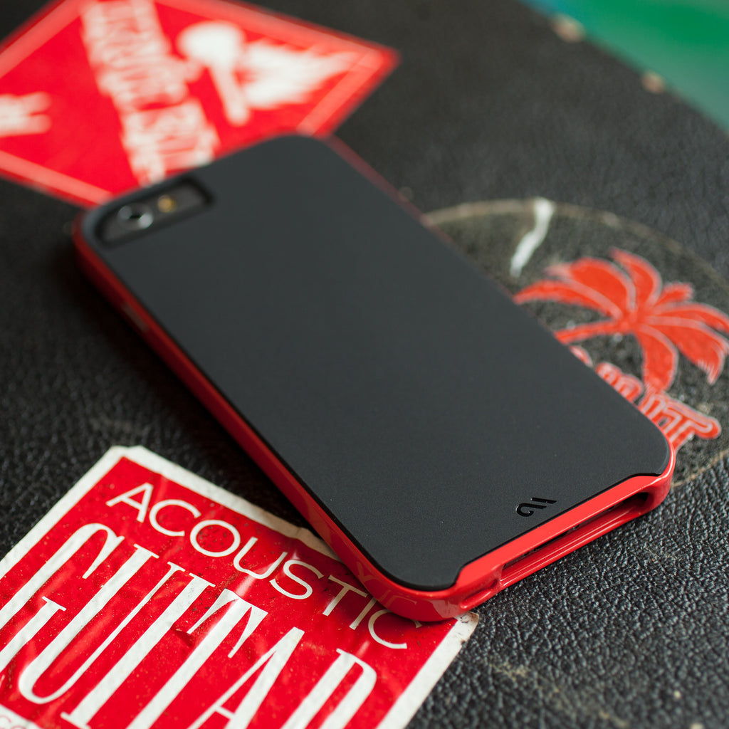 iPhone 6 Black & Red Slim Tough Case - lifestyle angle 1