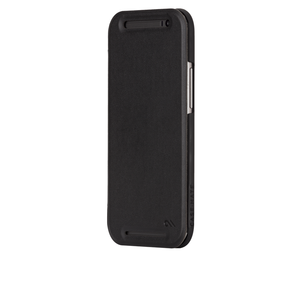 HTC One (M8) Black Slim Folio Case - image angle 4