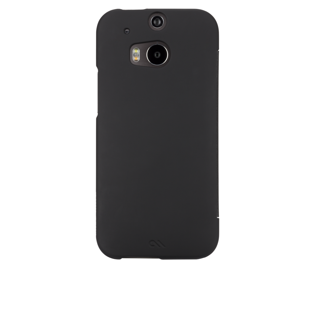 HTC One (M8) Black Slim Folio Case - image angle 7