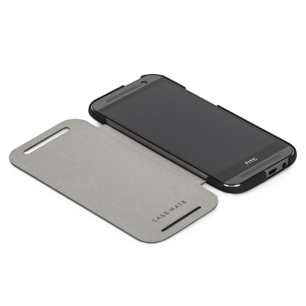 HTC One (M8) Black Slim Folio Case - image angle 8