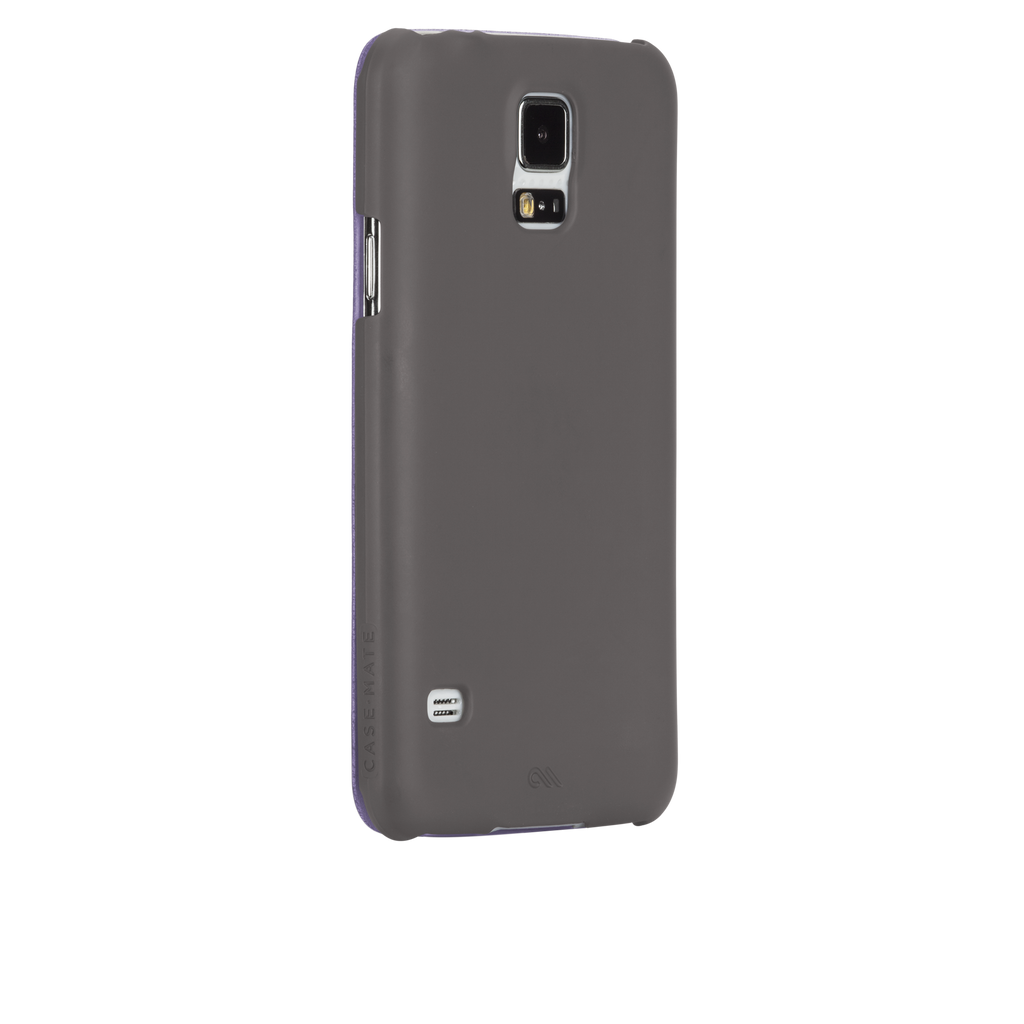 Samsung GALAXY S5 Titanium Grey & Iris Purple Slim Folio Case - image angle 1