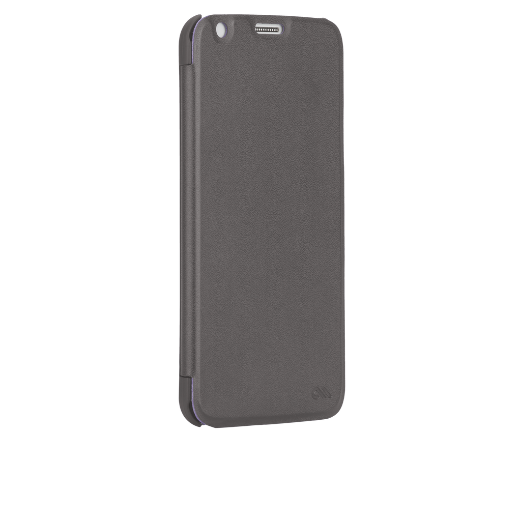 Samsung GALAXY S5 Titanium Grey & Iris Purple Slim Folio Case - image angle 2