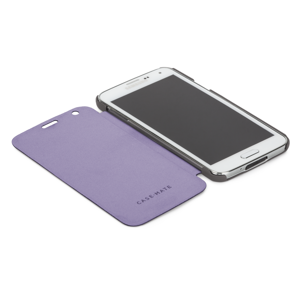 Samsung GALAXY S5 Titanium Grey & Iris Purple Slim Folio Case - image angle 8
