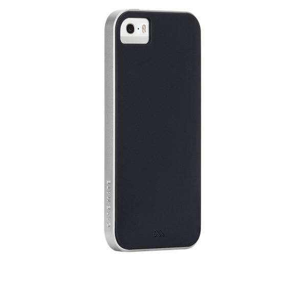 iPhone SE Black & Silver Slim Tough Case - image angle 1