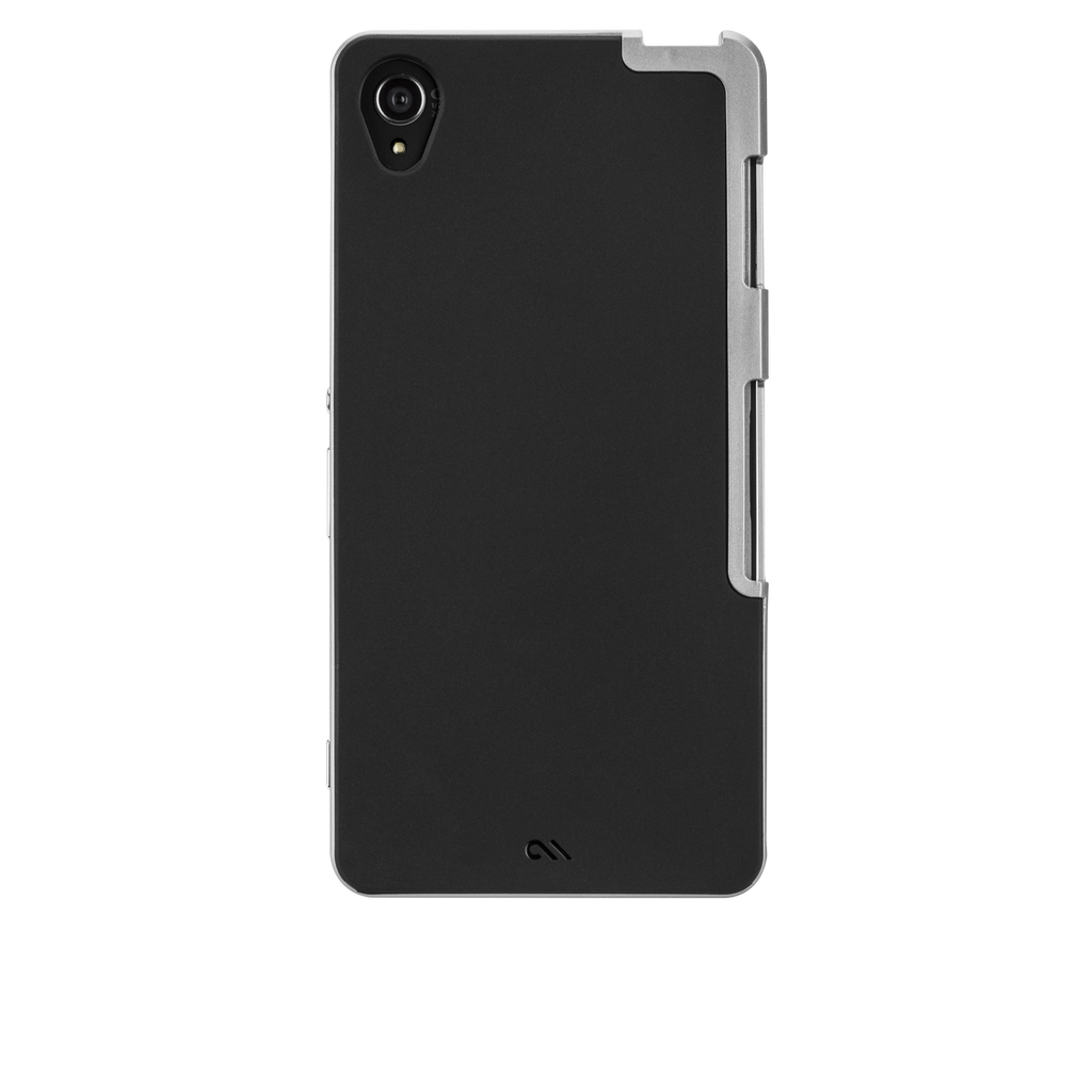 Sony Xperia Z3 Black & Silver Slim Tough Case - image angle 7