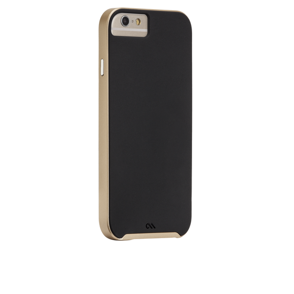 iPhone 6 Plus / 6s Plus Black & Gold Slim Tough Case - image angle 1
