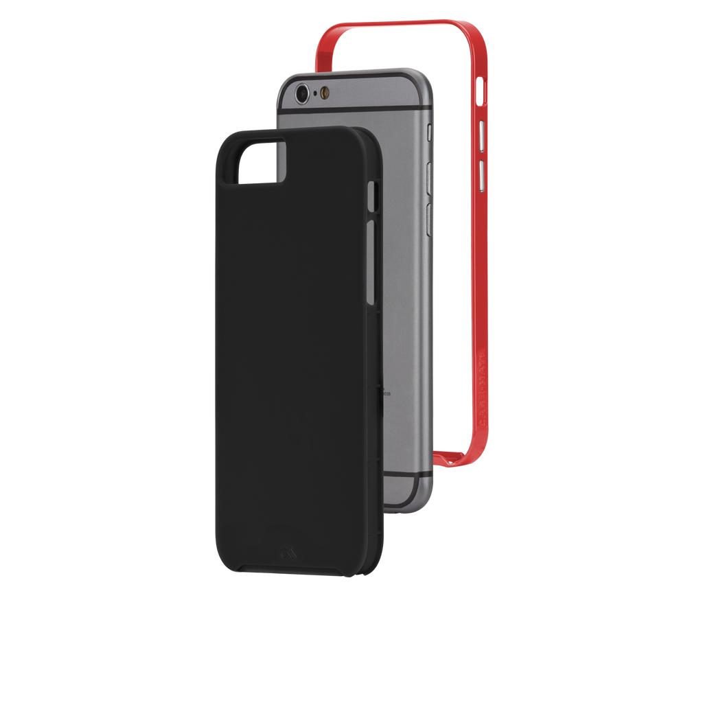 iPhone 6 Black & Red Slim Tough Case - image angle 8