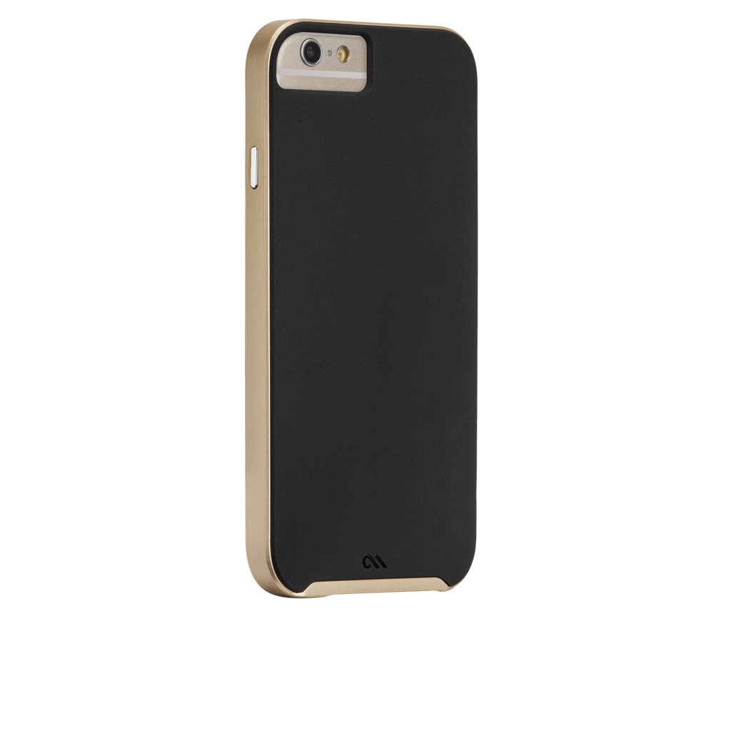 iPhone 6s Black & Gold Slim Tough Case - image angle 1