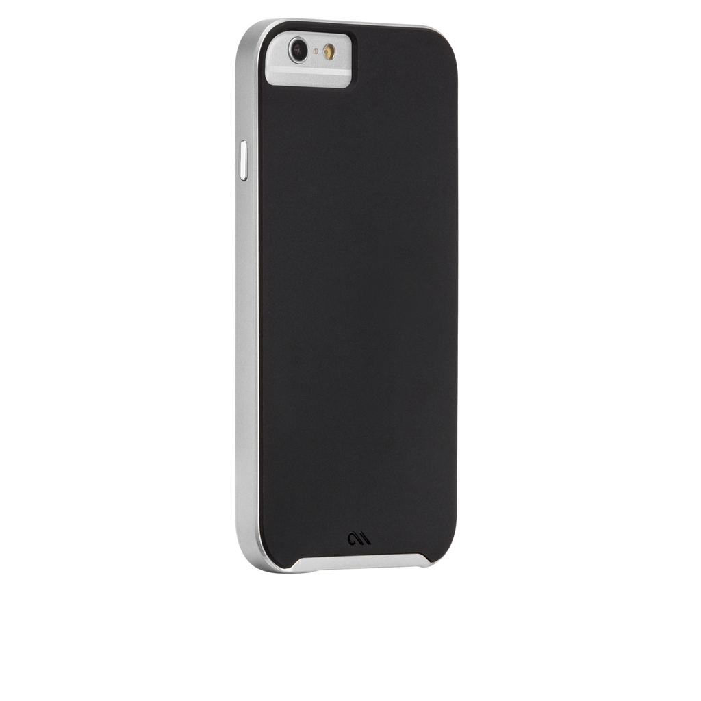 iPhone 6s Black & Silver Slim Tough Case - image angle 1