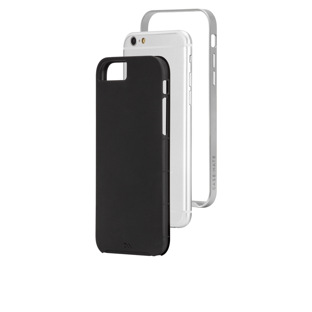iPhone 6s Black & Silver Slim Tough Case - image angle 8