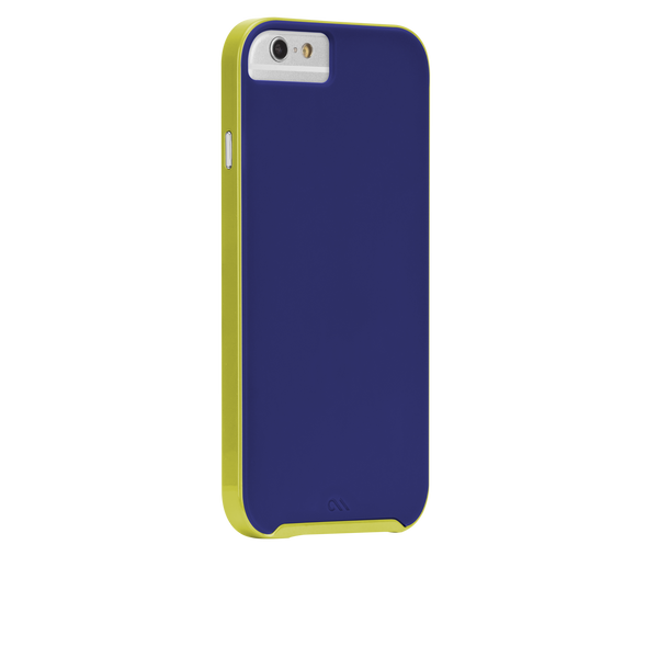 iPhone 6 Blue & Chartreuse Green Slim Tough Case - image angle 1