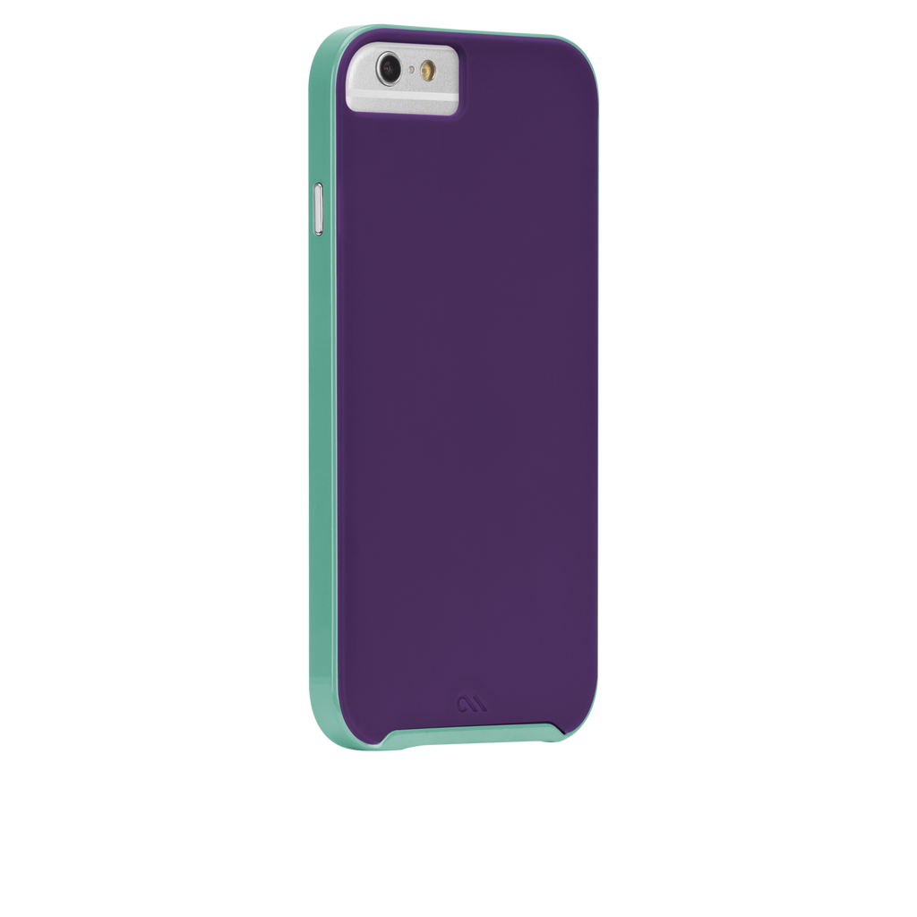 iPhone 6 Plum Purple & Pool Blue Slim Tough Case - image angle 1