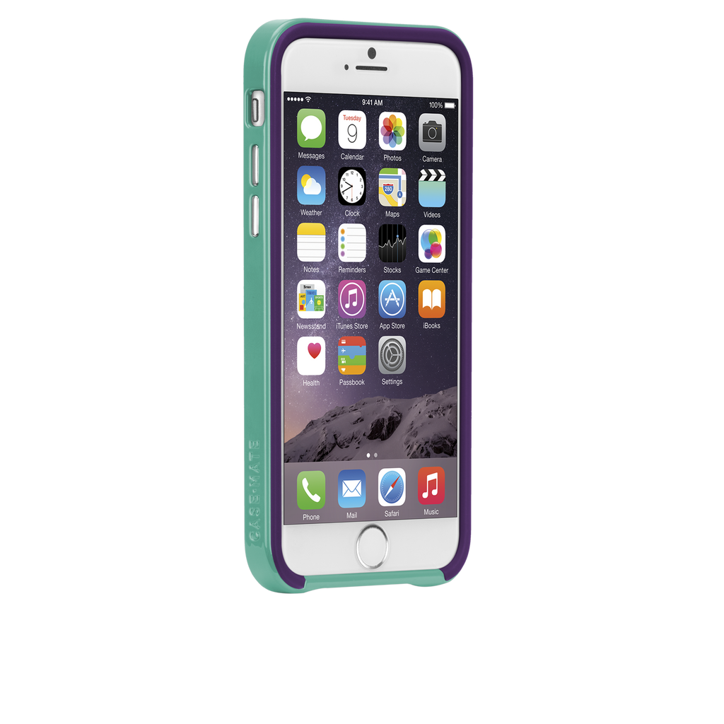 iPhone 6 Plum Purple & Pool Blue Slim Tough Case - image angle 2