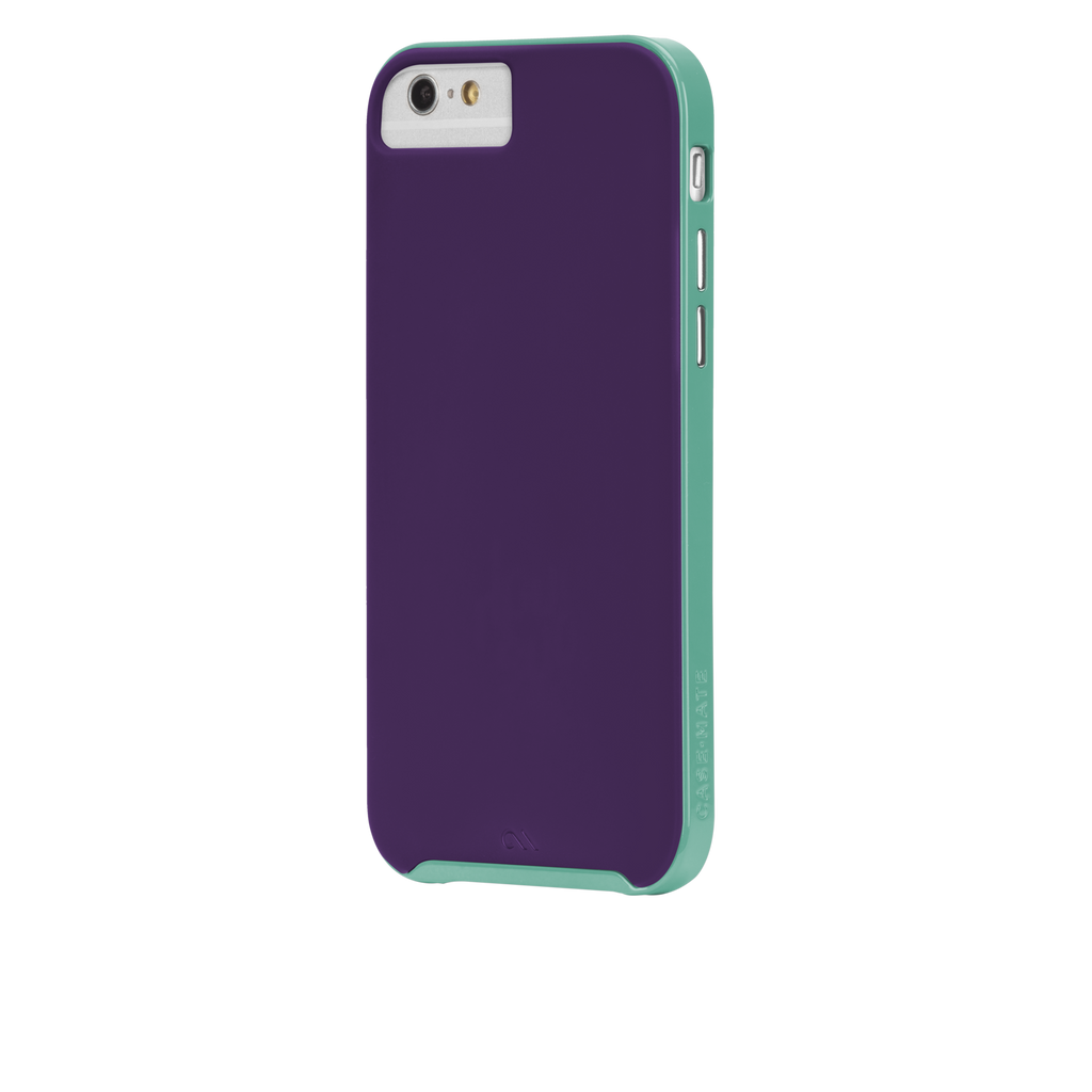 iPhone 6 Plum Purple & Pool Blue Slim Tough Case - image angle 3