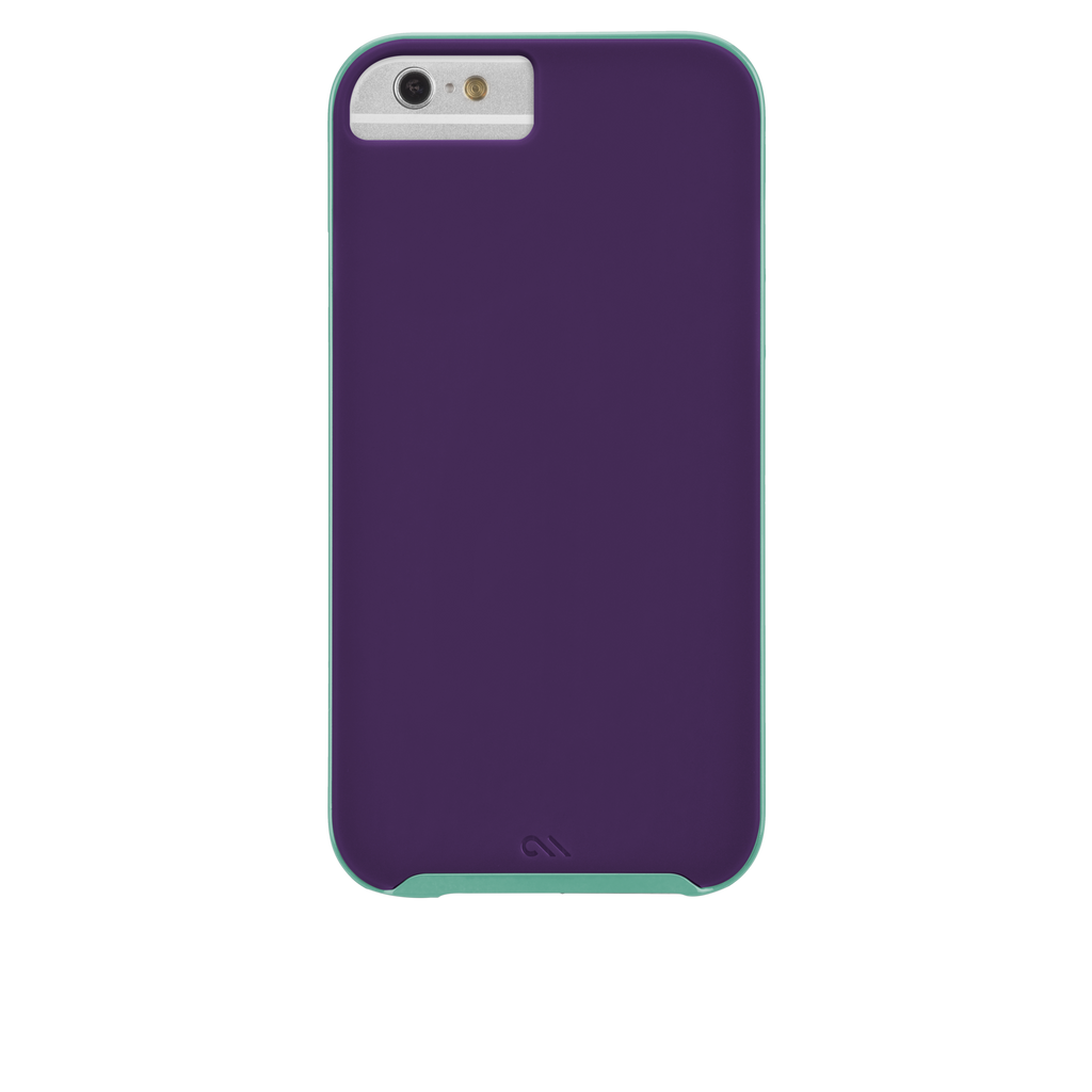 iPhone 6 Plum Purple & Pool Blue Slim Tough Case - image angle 7