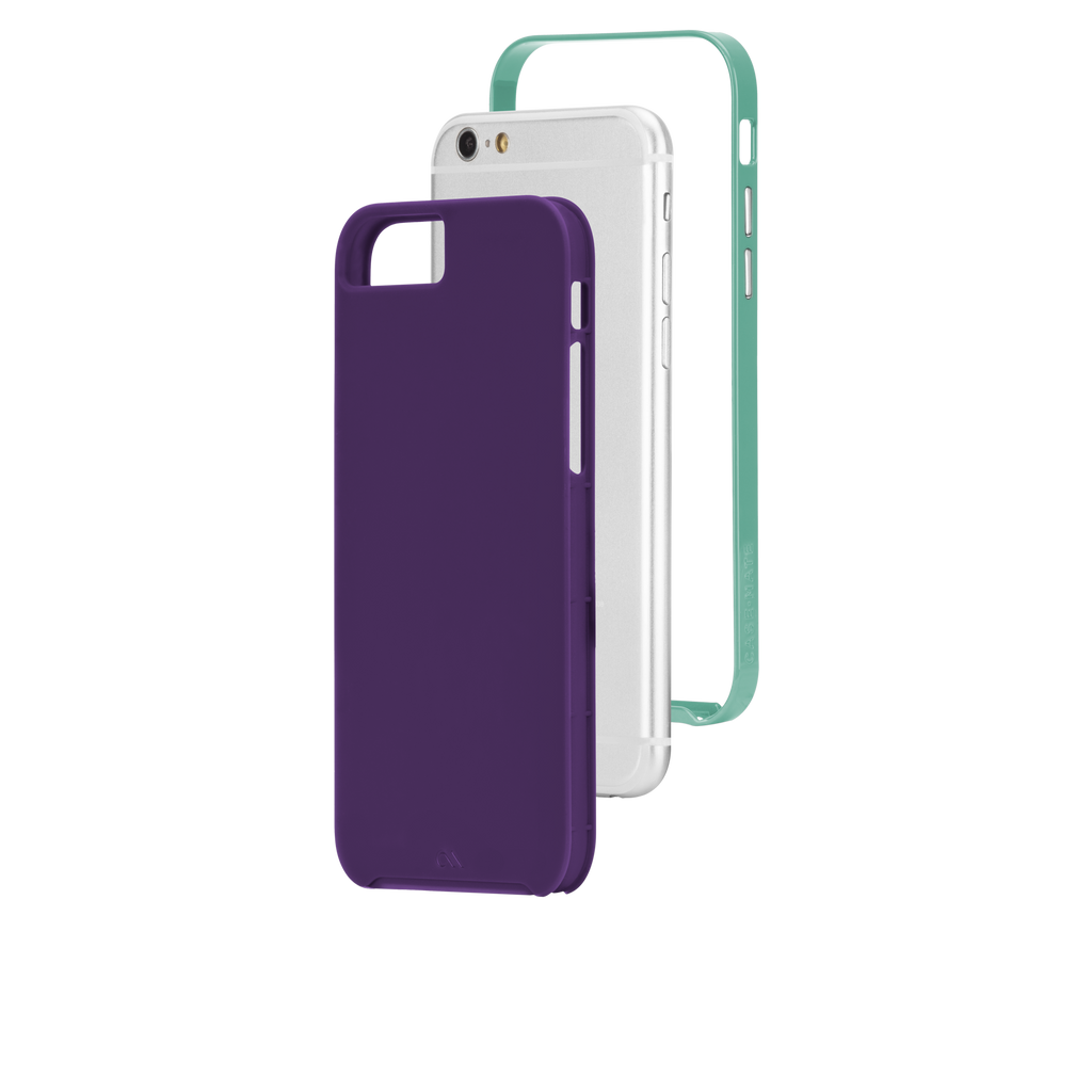 iPhone 6 Plum Purple & Pool Blue Slim Tough Case - image angle 8