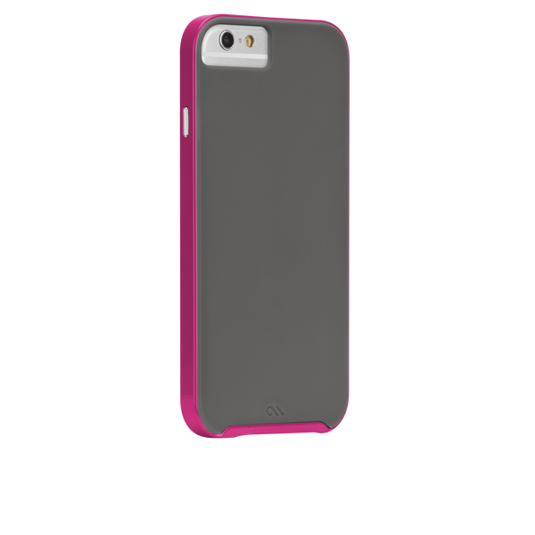 iPhone 6 Titanium & Pink Slim Tough Case - image angle 1