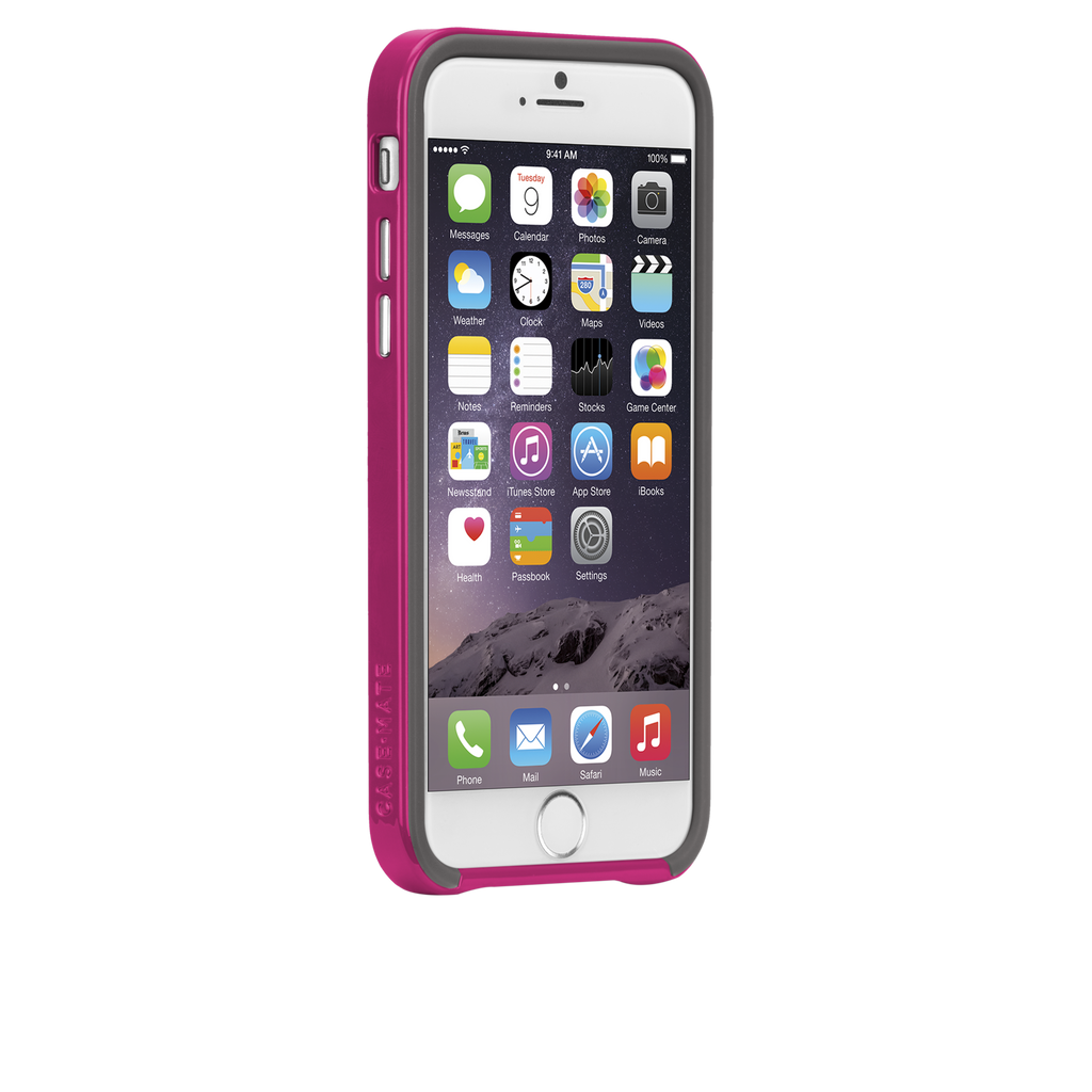 iPhone 6 Titanium & Pink Slim Tough Case - image angle 2
