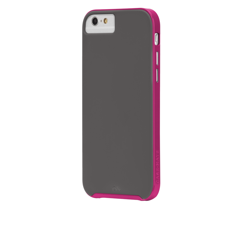 iPhone 6 Titanium & Pink Slim Tough Case - image angle 3