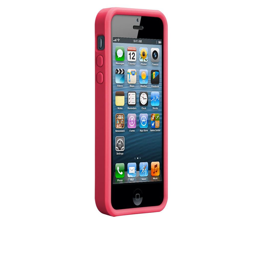 iPhone 5/5s Lipstick Pink & Flame Red Snap Case - image angle 2.PNG