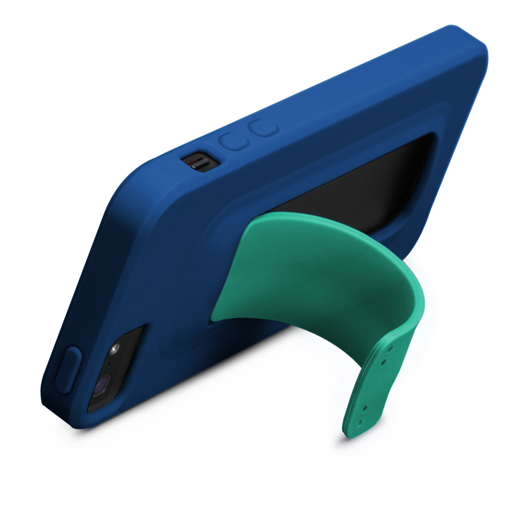 iPhone 5/5s Marine Blue & Emerald Green Snap Case - image angle 9