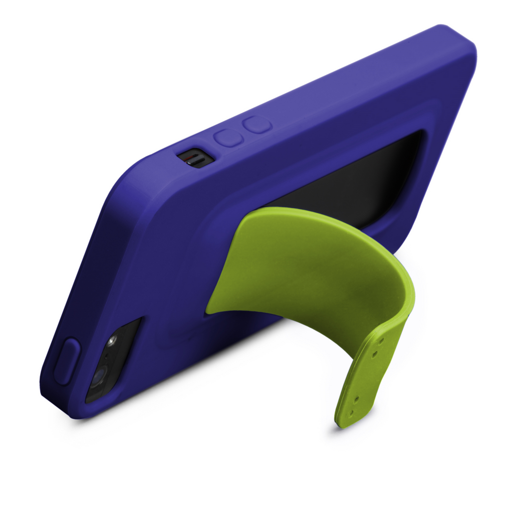 iPhone 5/5s Violet Purple & Chartreuse Green Snap Case - image angle 9