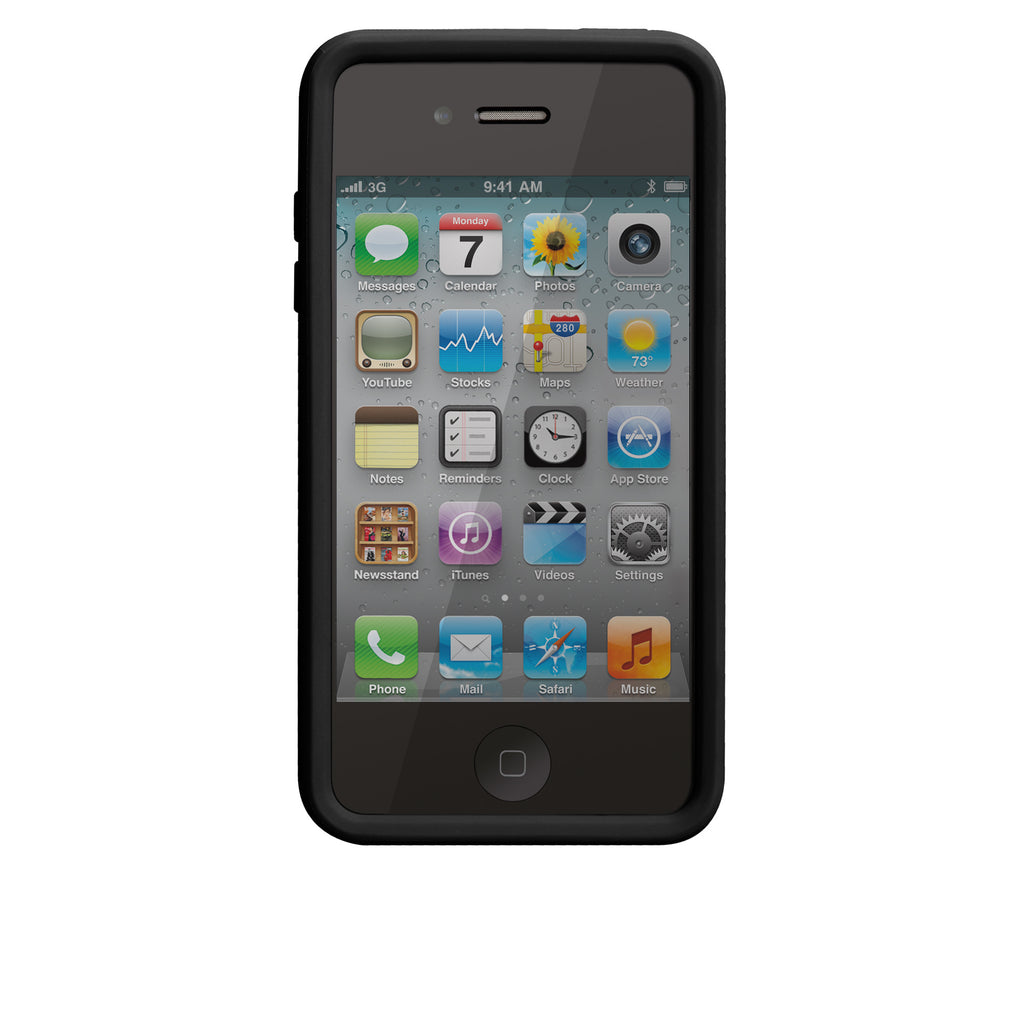 iPhone 4/4s Black & Cool Grey Snap Case - image angle 6