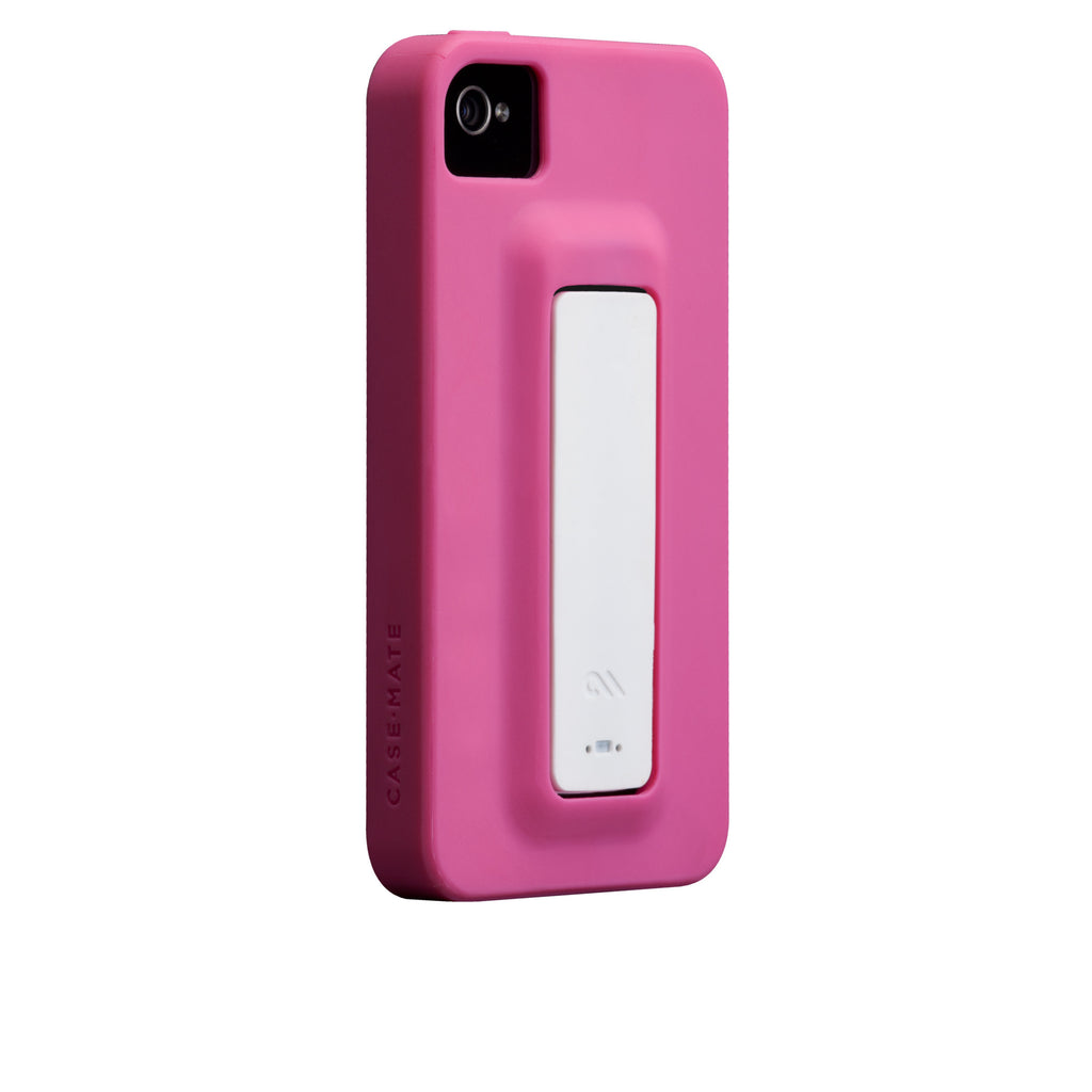 iPhone 4/4s Lipstick Pink & White Snap Case - image angle 1