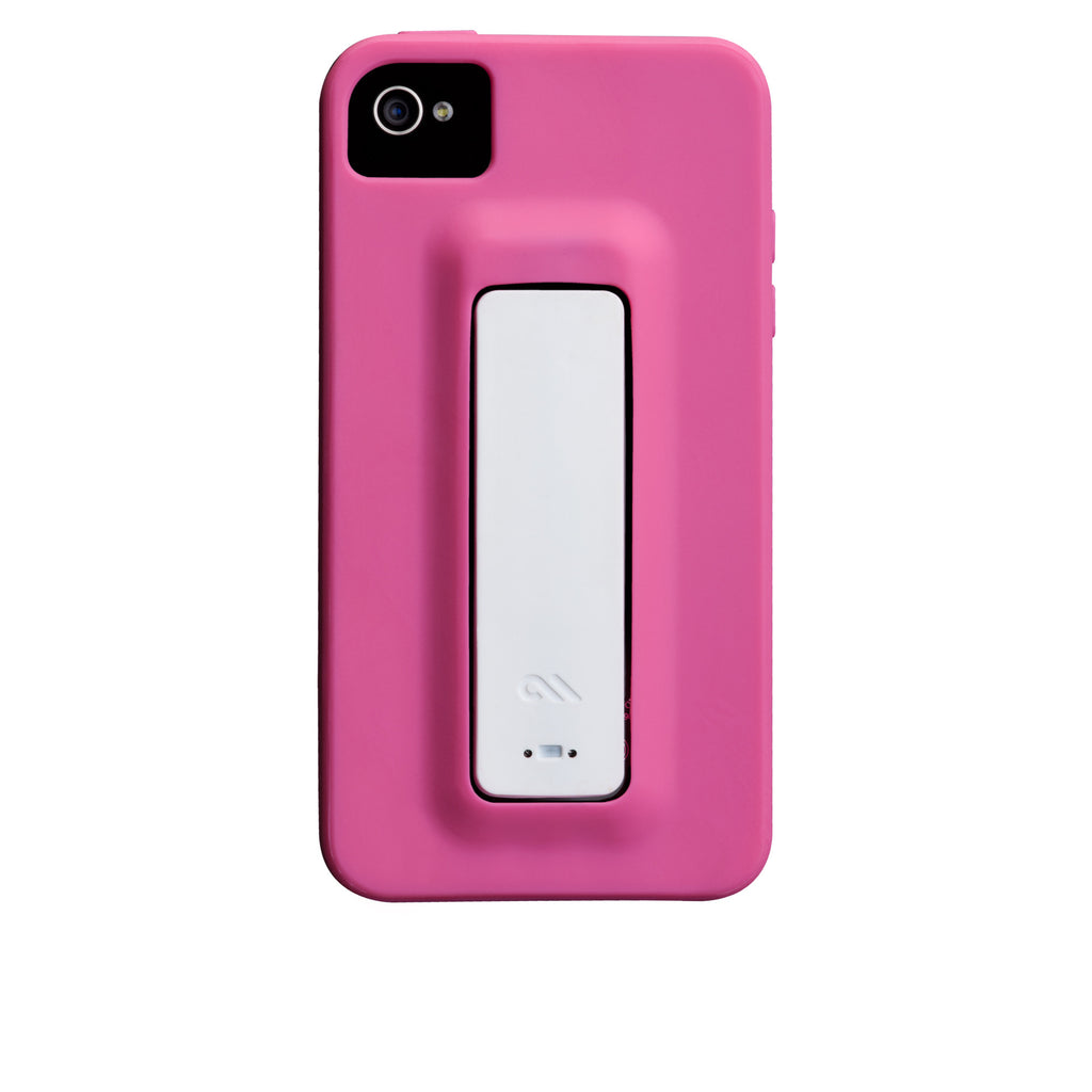 iPhone 4/4s Lipstick Pink & White Snap Case - image angle 7