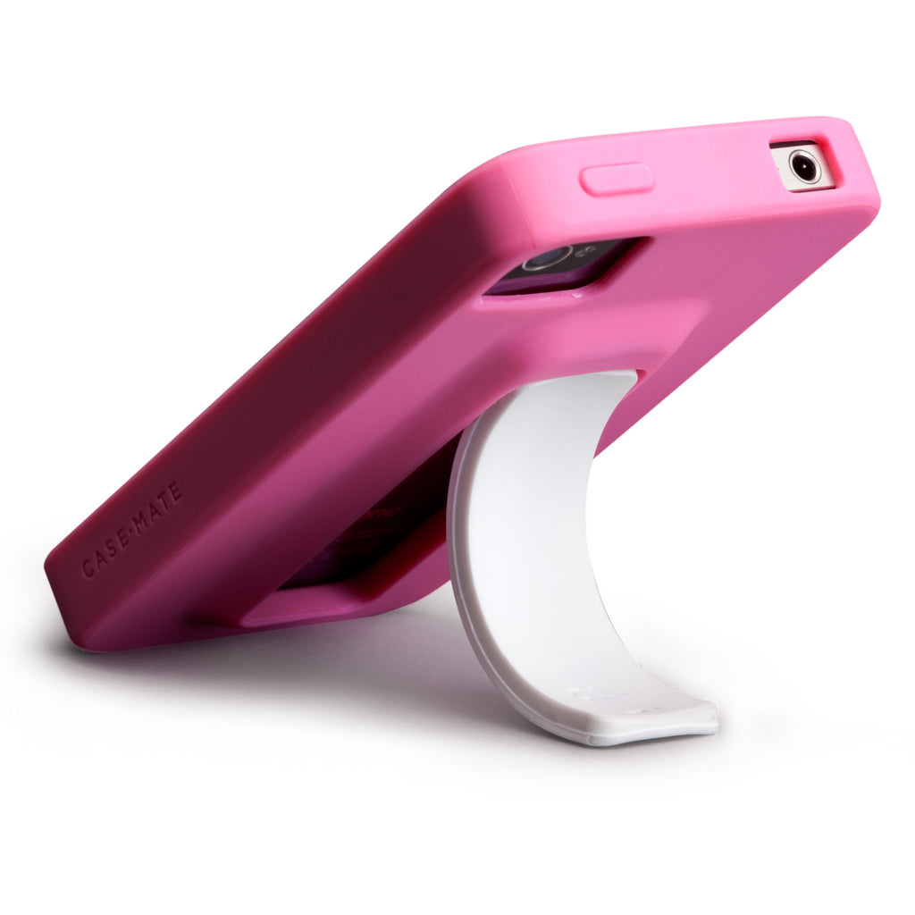 iPhone 4/4s Lipstick Pink & White Snap Case - image angle 8