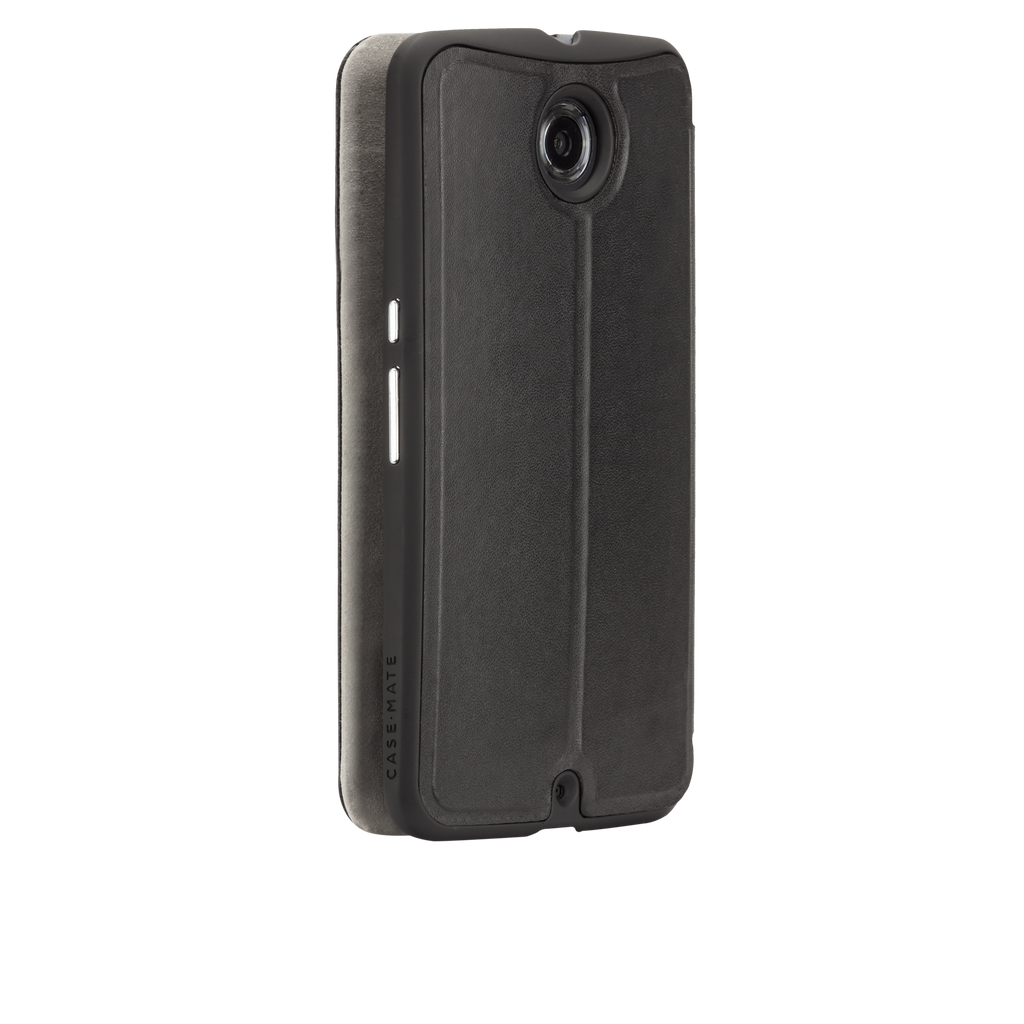 Nexus 6 Black Stand Folio Case - image angle 1