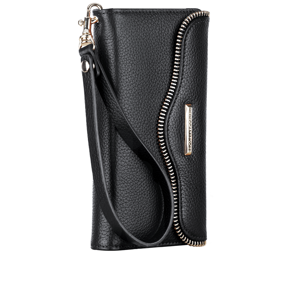 iPhone SE Black Rebecca Minkoff Leather Wristlet - Black - image angle 2