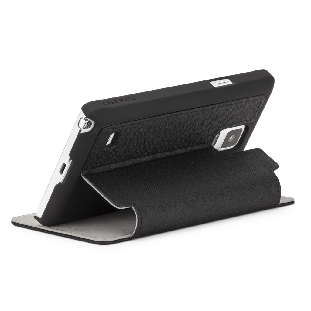 Samsung GALAXY Note 4 Black Stand Folio Case - image angle 9