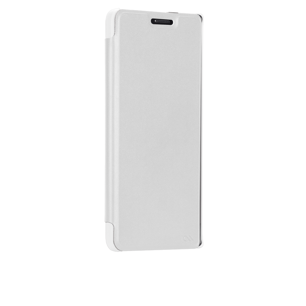 Samsung GALAXY Note Edge White Stand Folio Case - image angle 2
