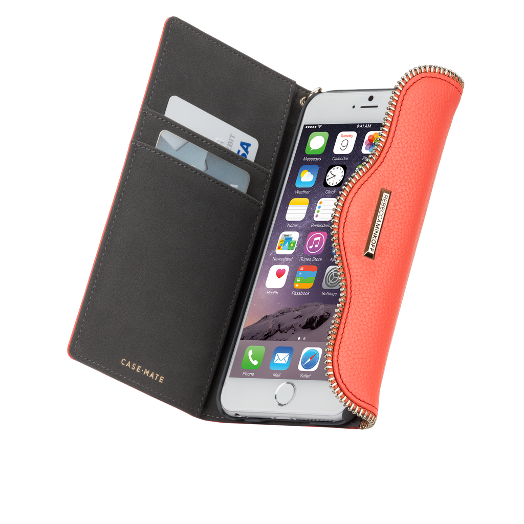 iPhone 6 Coral Leather Folio Wristlet - image angle 10