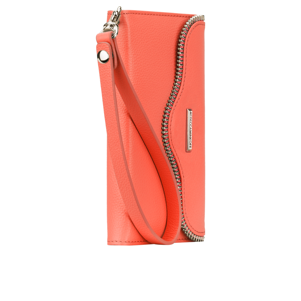 iPhone 6 Coral Leather Folio Wristlet - image angle 2