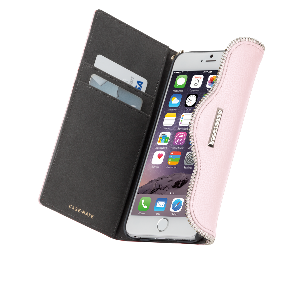 iPhone 6/6s Pale Pink Rebecca Minkoff Leather Wristlet - Pale Pink - image angle 10