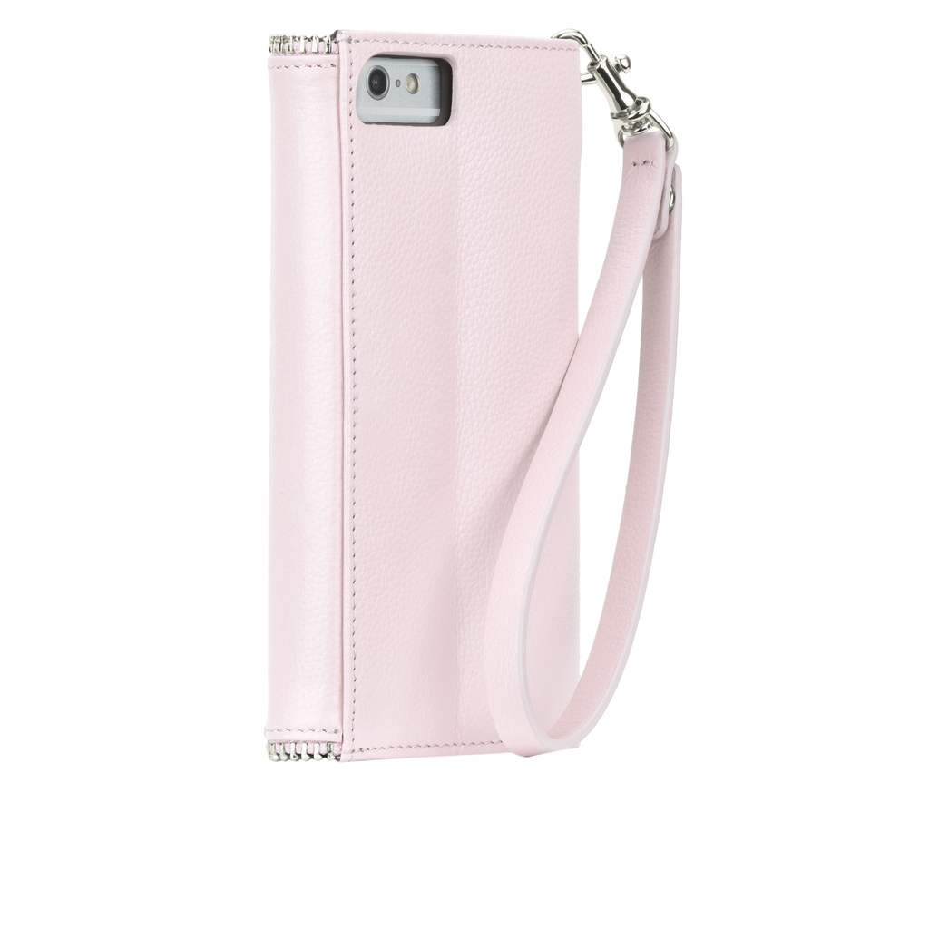 iPhone 6/6s Pale Pink Rebecca Minkoff Leather Wristlet - Pale Pink - image angle 1