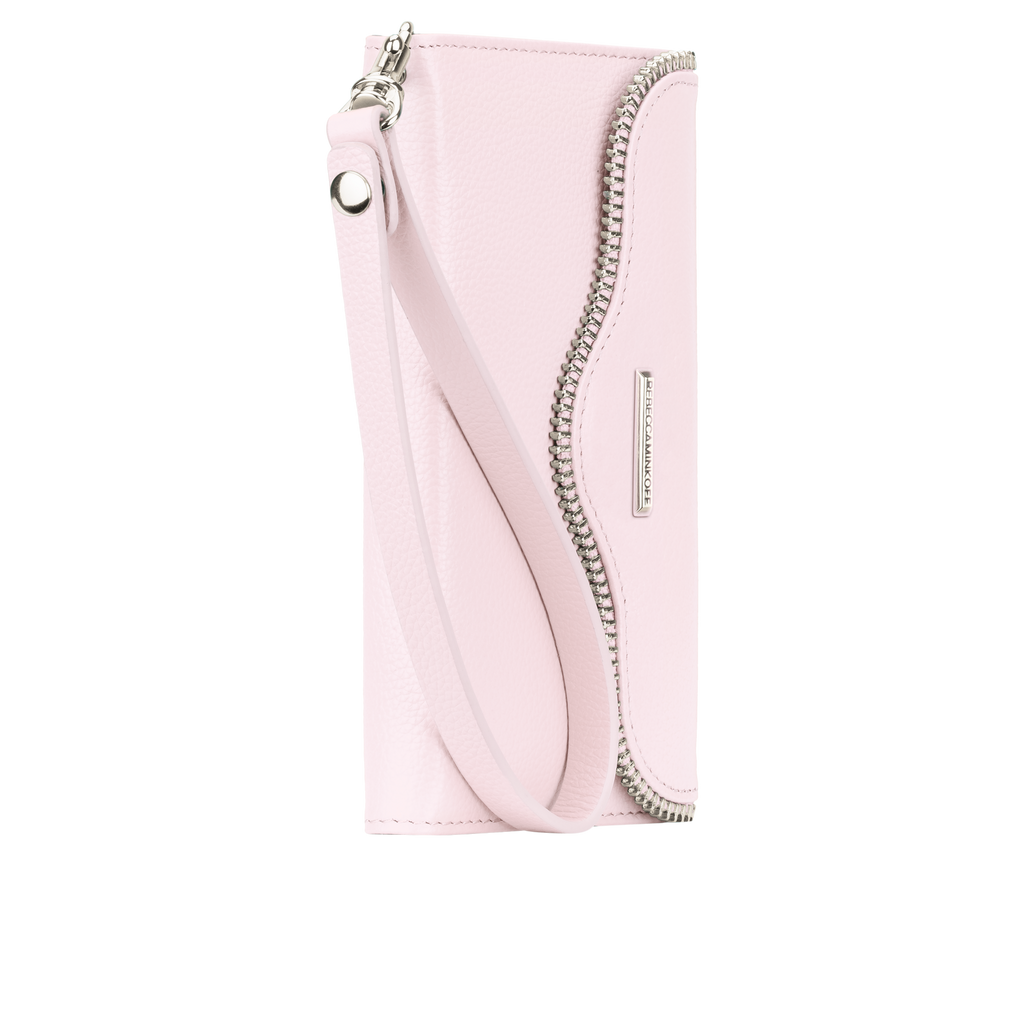 iPhone 6/6s Pale Pink Rebecca Minkoff Leather Wristlet - Pale Pink - image angle 2