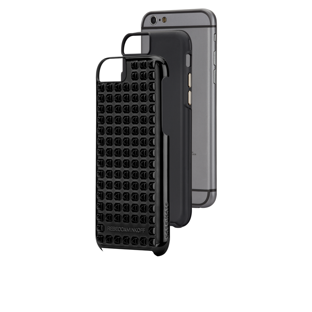 iPhone 6 Black Studded Tough Case - image angle 8