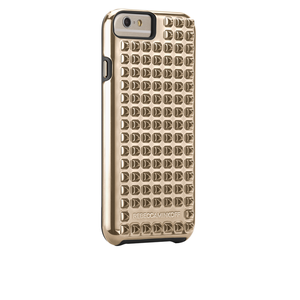 iPhone 6 Gold Studded Tough Case - image angle 1