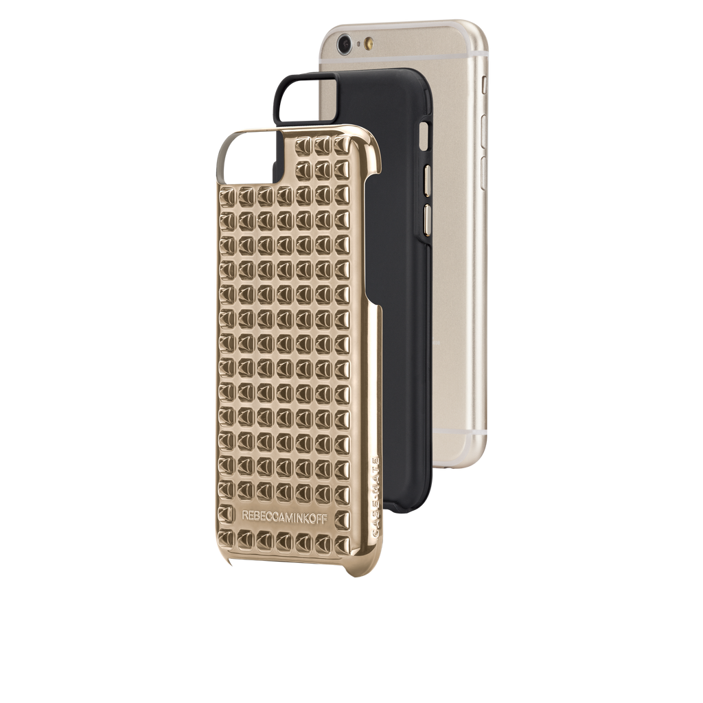iPhone 6 Gold Studded Tough Case - image angle 8