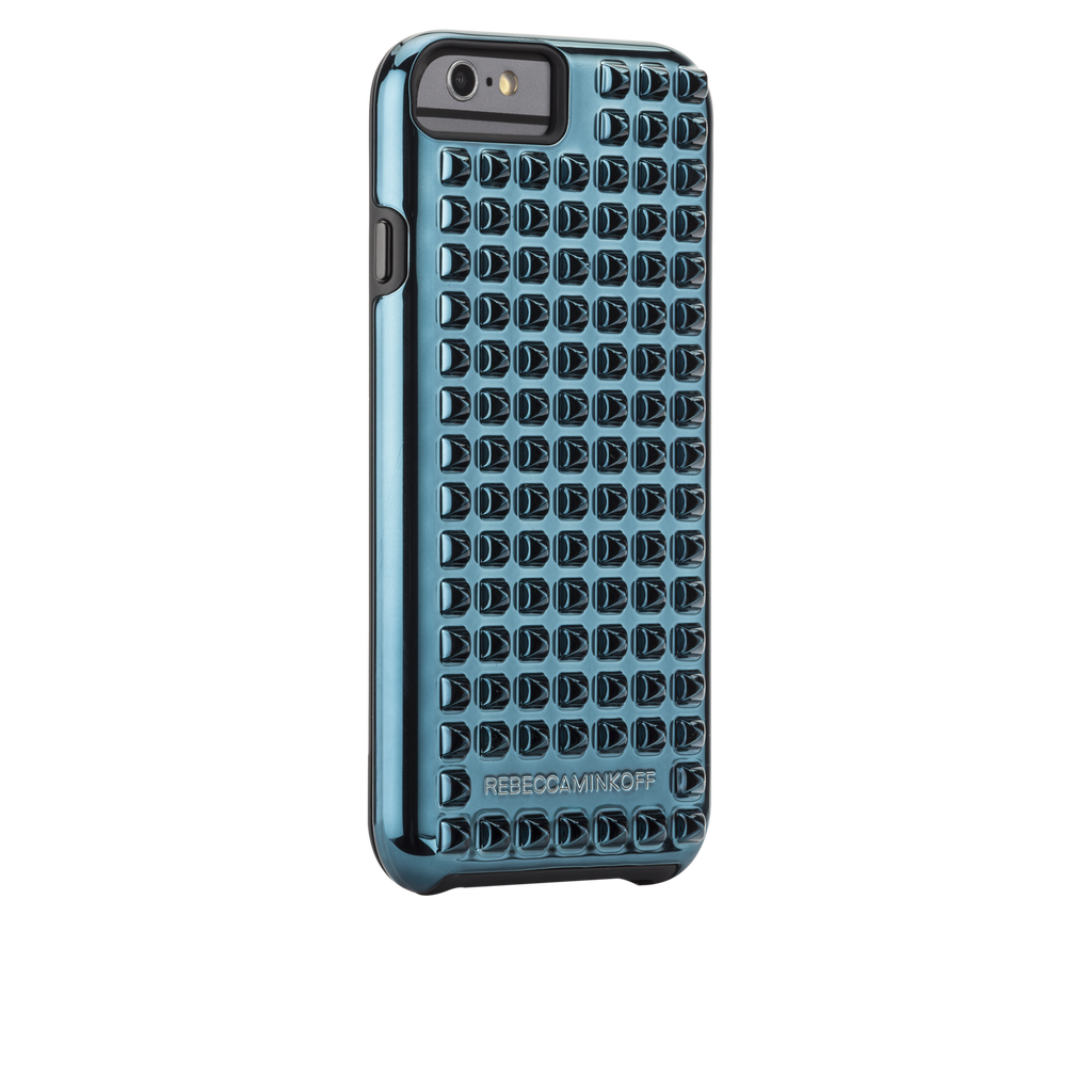 iPhone 6 Teal Studded Tough Case - image angle 1