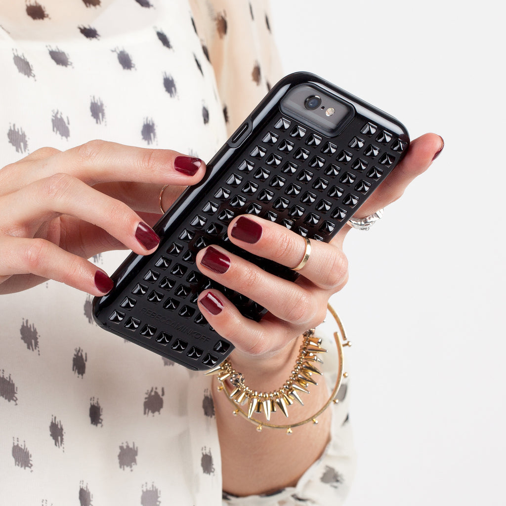 iPhone 6 Black Studded Tough Case - lifestyle shot 1
