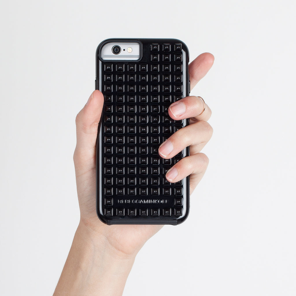 iPhone 6 Black Studded Tough Case - lifestyle shot 2