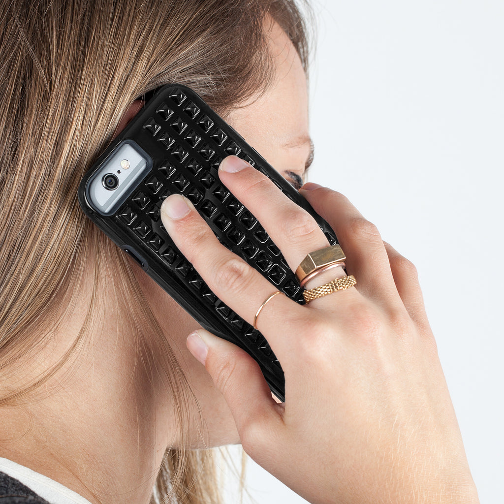 iPhone 6 Black Studded Tough Case - lifestyle shot 3