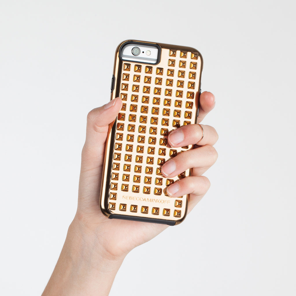 iPhone 6 Gold Studded Tough Case - lifestyle shot 2